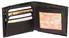 Genuine Leather Lambskin Men's Wallet BLACK #4192