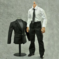 HOT FIGURE TOYS 1/6 model black Classic style Men's suits not include the shoes