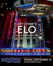 "JEFF LYNNE'S ELECTRIC LIGHT ORCHESTRA ""UNIVERSE TOUR"" 2016 NYC CONCERT POSTER v2"