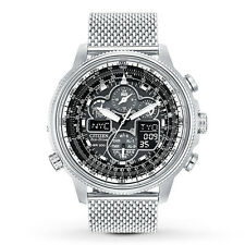 New Citizen JY8030-83E Eco-Drive Chrono A-T Mesh Band Men's Watch