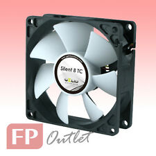 GELID SILENT 8 cm TC 80mm Temperature Control Sensor Rubber Mount PC Case Fan