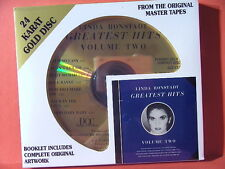 "DCC GZS-1128 LINDA RONSTADT ""GREATEST HITS TWO"" (24 KT GOLD COMPACT DISC/SEALED)"