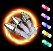 4ps Multicolor LED Neon Wheel Tyre light Tire Valve Cap Flash Bike Bicycle Cycle