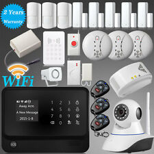 WiFi Internet GSM GPRS RFID Home House Security Alarm System+720P HD IP Camera