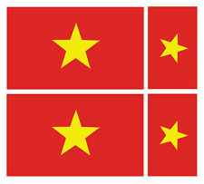 4 x vietnamien vietnam flag vinyle voiture van ipad laptop sticker