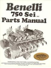1977 Benelli 750 Sei 6 cylinder illustrated part book