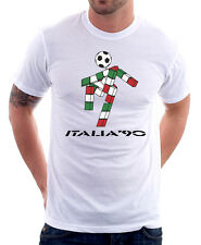 ITALIA 90 world cup Ciao Mascotte cotton t-shirt teecafe 01347