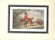 Thomas Rowlandson HOW TO RIDE GENTEEL Sporting Print 1924 Tipped In Full Color