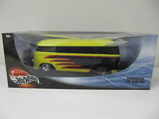 Hot Wheels Customized Volkswagon Bus Yellow/Black/Red 1:18  Die Cast  NIB