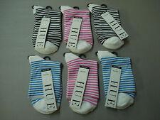 NWT Women's Hue Fine Pixie Socks One Size 6 Pair Multi #663E