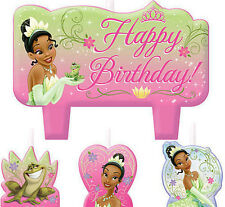 TIANA Cake CANDLES  Disney Princess & Frog birthday party supplies 4 pc molded
