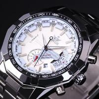 Luxury Men Day Date Automatic Mechanical Stainless Steel Sport Wrist Watch em