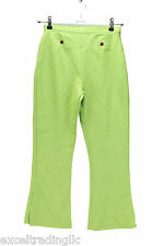JACADI Girl's Soulier Lime Green Acrylic Wool Blend Pants Age: 10 Years  NWT $68
