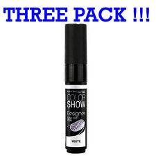 THREE PACK Maybelline Color Show Nail Art Pen White '01'