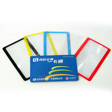 Credit Card Size Magnifier 3x Magnifying Fresnel Lens Pocket Wallet Reading