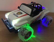 Policía Jeep Monster Truck Radio Control remoto del volante del coche Leds Intermitentes