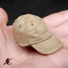 """*1: 6 Scale Soldier ARMSHEAD  Baseball caps Tan/Sand PMC For 12"""" Figure"""