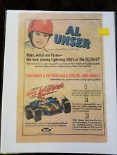 REPRINT Johnny Lightning AL UNSER COMIC BOOK ADVERTISEMENT  TOPPER