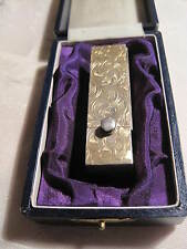 VINTAGE / ANTIQUE LIPSTICK CASE WITH MIRROR OR PILL BOX..STERLING ORIGINAL BOX