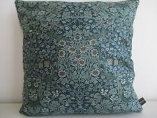 Sanderson Rare Blackthorn Minor Cotton Teal & Mink Velvet Fabric Cushion Cover