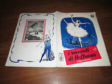 BROCHURE I racconti di Hoffmann,The Tales of ,Michael Powell, Emeric Pressburger