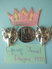 5 TIBETAN SILVER FOX HEAD CHARMS JEWELRY CRAFTS BEADS WOLF GAME OF THRONES RETRO