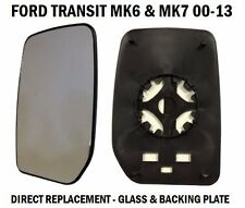 FORD TRANSIT 2000 2010 MK6 MK7 FRONT WING MIRROR GLASS L/H PASSENGER SIDE NS
