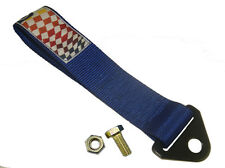 High Strength Racing Tow Strap Kit Blue For Front Rear Bumper Hook Truck SUV