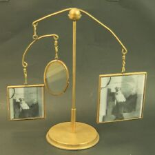 Michael Graves Collection Brass Photo Holder Mobile Holds 3 Photos 4x4/3x3/3x2