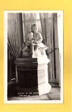 RPPC Prairie Du Chien,WI Wisconsin  Villa Louis statue of boy and girl
