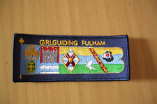 GIRL GUIDE FULHAM DIVISION STANDARD BADGE - NEW