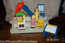 Little Tikes Dollhouse Lot of 7 Slide Desk Chair KItchen Dolls More