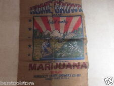 HUGE HOME GROWN  BURLAP BAG marijuana pot leaf storage wall hanging  SACK NEW