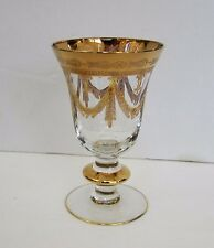 Arte Italica Medici 24 KT Gold Ecrusted Cordial Port Glass (s) 4.75""