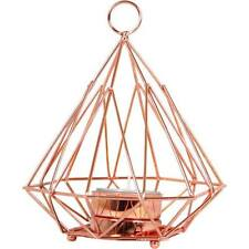 PYRAMID GEOMETRIC COPPER CANDLE HOLDER