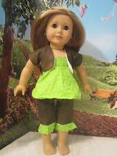 """homemade 18"""" american girl/madame alexander 4 piece pant/ dress doll clothes"""