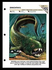 """DINICHTHYS"" PREHISTORIC ANIMAL/WILD LIFE FACT FILE ARMORED FISH INFO-CARD"