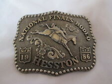 1986 Hesston National Finals Rodeo Belt Buckle NFR Cowboy 4th Limited Ed Fellows