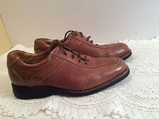 Men Lace Up Johnson Murhy Brown Leather Shoes Size 10 Made In Brazil