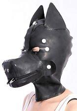 133 Latex Rubber Gummi wolf-dog Mask Hood customized catsuit cool clubwear 1.0mm