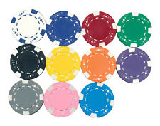 100 CLAY ACE JACK POKER CHIPS Custom SET 11.5 gr 11 Colors to Choose  Free Ship*