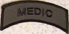 Embroidered Military Patch Medic shoulder tab NEW muted