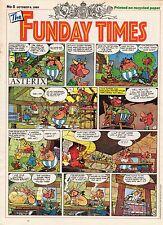 FUNDAY TIMES NUMERO 5 (1989) RARE PERIODIQUE ANGLAIS AVEC ASTERIX A LA UNE