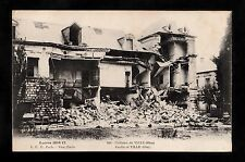 C1918 View of war damage caused to Chateau de Ville, France during WW1