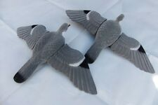!!! 2x floqué pigeon bird decoys!!! deux! aimant machine rotary hunting shooting