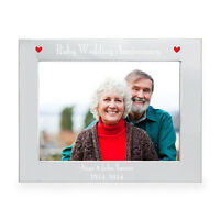 PERSONALISED SILVER, RUBY, GOLDEN, DIAMOND WEDDING ANNIVERSARY GIFT PHOTO FRAME