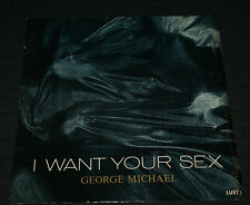 GEORGE MICHAEL  Vinyl 45 W/ PS 1987 I Want Your Sex OUT OF PRINT VG+/NM- RIP