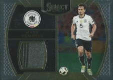 2016-17 PANINI SELECT SOCCER MATS HUMMELS GERMANY PLAYER WORN JERSEY CARD