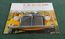 1969 SIATA 850 SPRING DUTCH LARGE COLOUR FOLDER BROCHURE