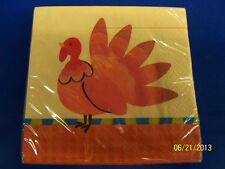 Gobble Turkey Bird Fall Autumn Thanksgiving Holiday Party Paper Beverage Napkins